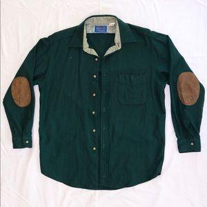 Pendleton elbow patch wool shirt